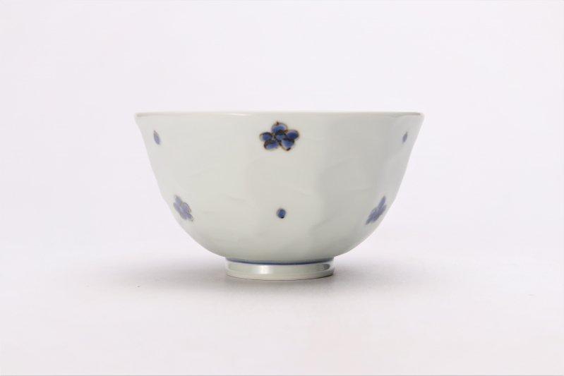 そうた窯 染付小花紋面取茶付 ペア 画像サブ3