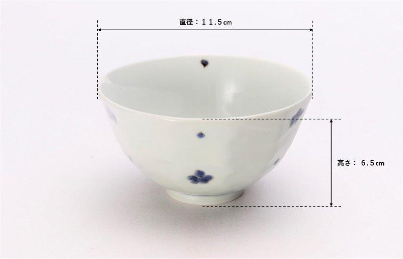 そうた窯 染付小花紋面取茶付 ペア 画像サブ6