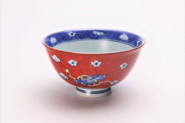 徳七窯 染錦宝袋茶付 ペア 画像サブ8