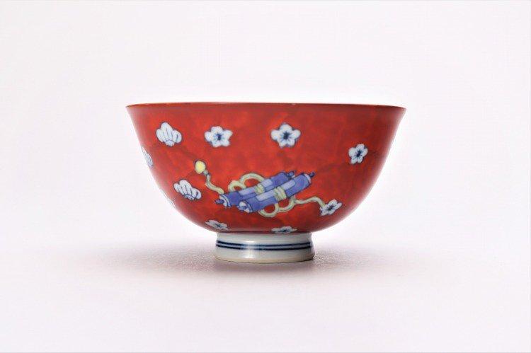 徳七窯 染錦宝袋茶付 ペア 画像サブ9
