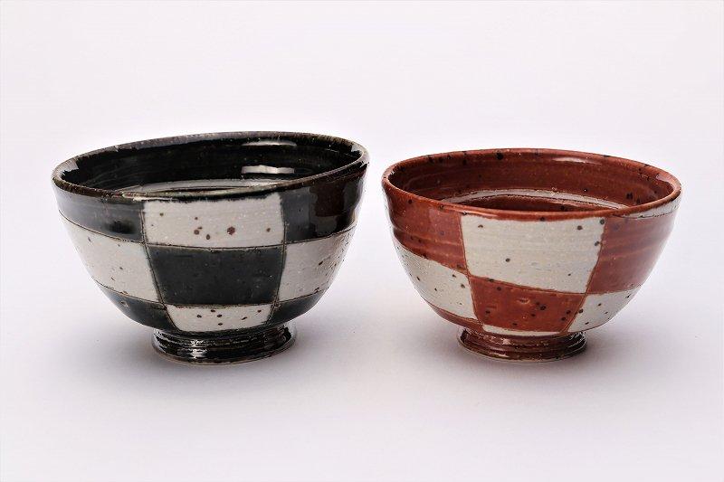 大桂工房 市松茶碗 ペア 画像メイン