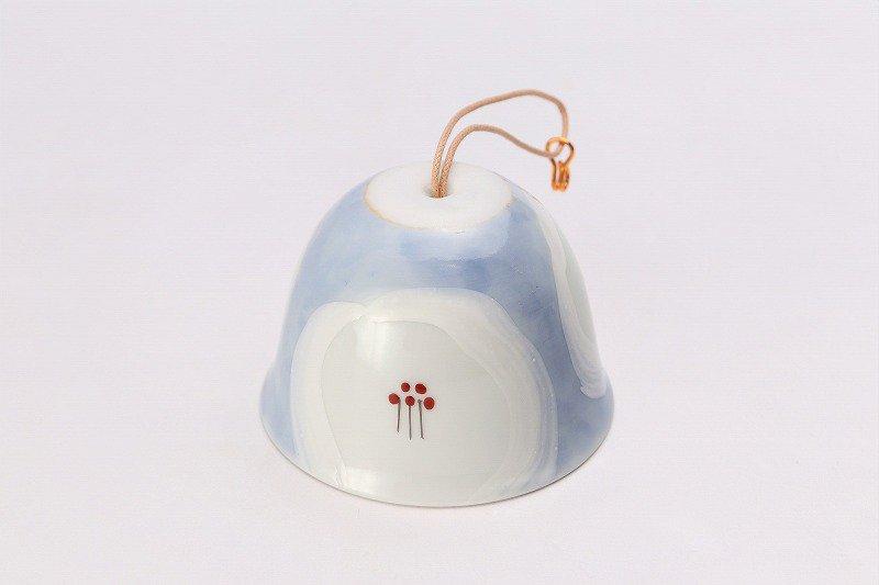 楽々シリーズ 外濃花詰(白) 丸型風鈴 画像メイン