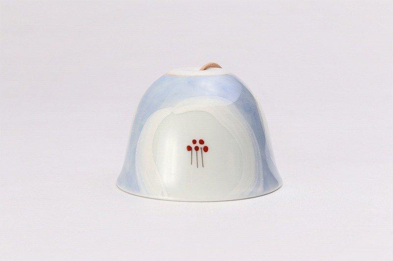 楽々シリーズ 外濃花詰(白) 丸型風鈴 画像サブ1