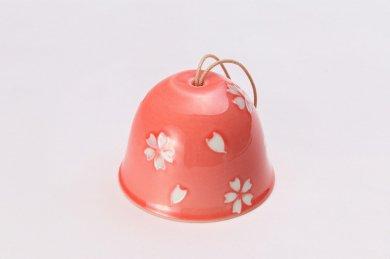 楽々シリーズ ピンク交趾桜 丸型風鈴