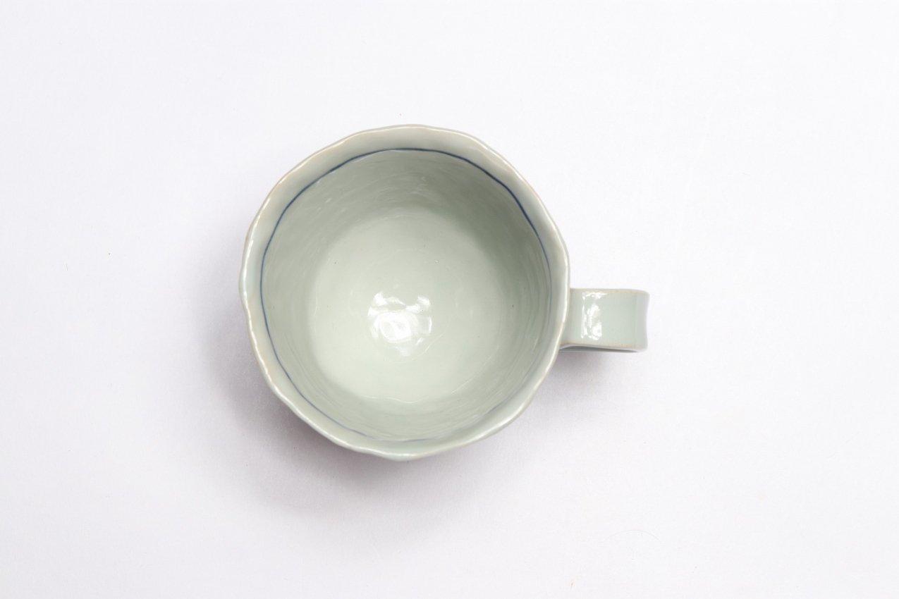 皓洋窯 手作り 染錦青海波十草コーヒーC/S 画像サブ5