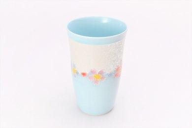 楽々シリーズ 水釉花つなぎラスター フリーカップ (化粧箱入り)