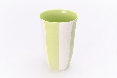 楽々シリーズ ストライプ(黄緑) フリーカップ (化粧箱入り)