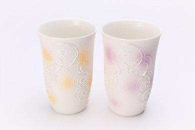 楽々シリーズ 渦真珠 ペアフリーカップ (化粧箱入り)