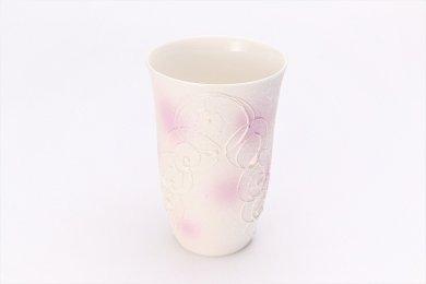 楽々シリーズ 渦真珠雲母紫 フリーカップ (化粧箱入り)