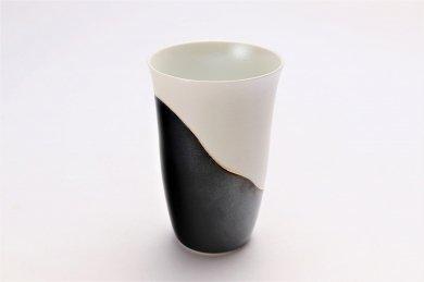 楽々シリーズ 黒釉パール金線 フリーカップ (化粧箱入り)
