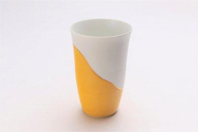 楽々シリーズ 濃黄釉パール金線 フリーカップ (化粧箱入り)