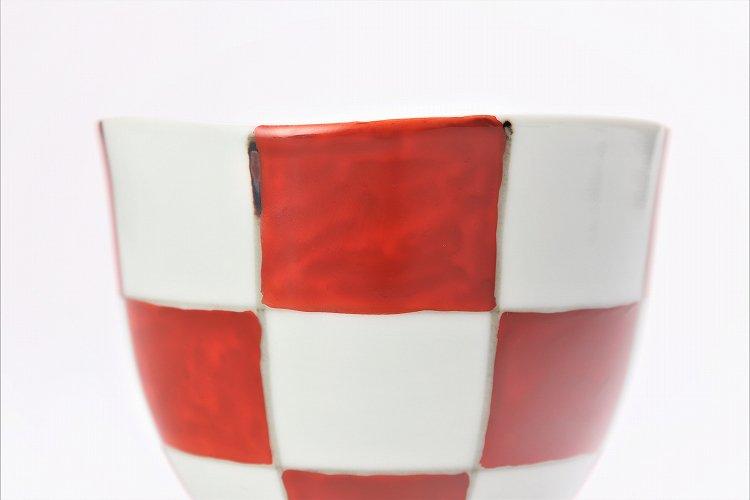 そうた窯 染錦赤市松 フリーカップ 画像サブ2