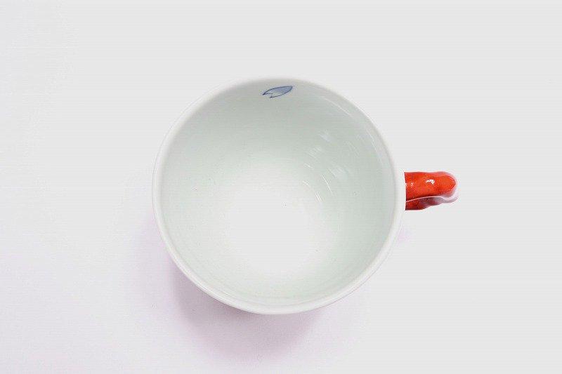 そうた窯 染錦赤市松桜 マグカップ 画像サブ2