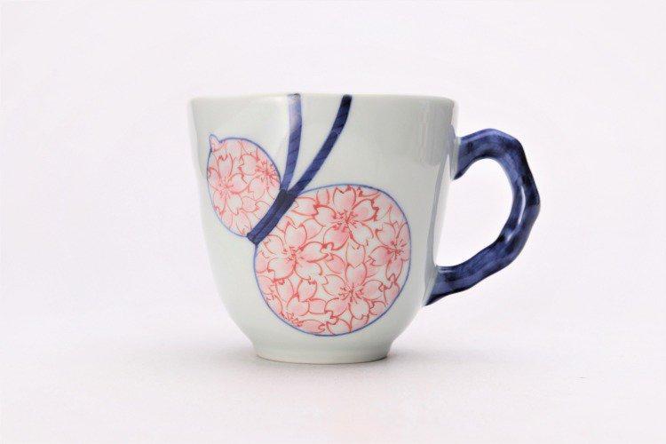 そうた窯 染付瓢桜 マグカップ 画像サブ1