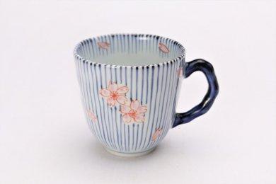 そうた窯 染付呉須十草桜 マグカップ