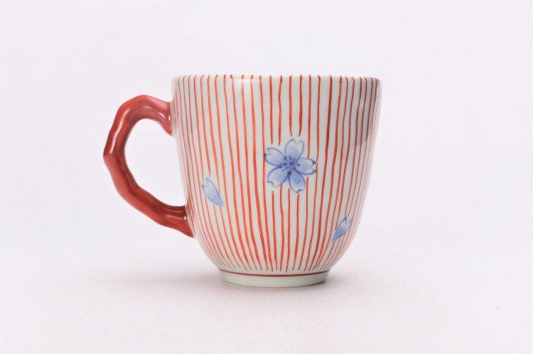 そうた窯 染錦赤十草桜 マグカップ 画像サブ2