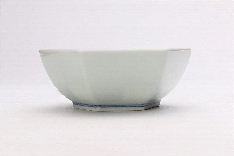 北川美宣窯 ストライプ六角小鉢 画像サブ1