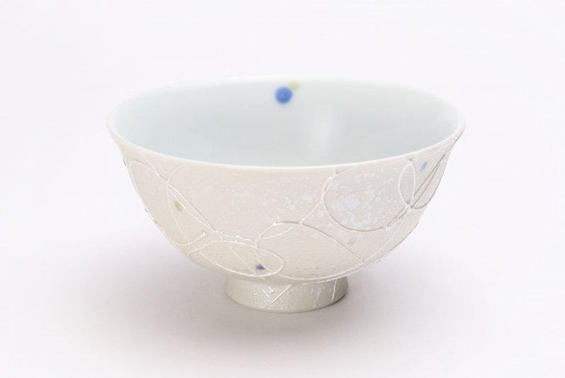 楽々シリーズ 色しずく(青・緑) 茶碗 (化粧箱入り) 画像メイン