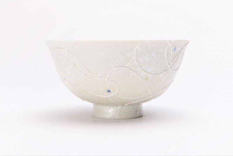 楽々シリーズ 色しずく(青・緑) 茶碗 (化粧箱入り) 画像サブ1