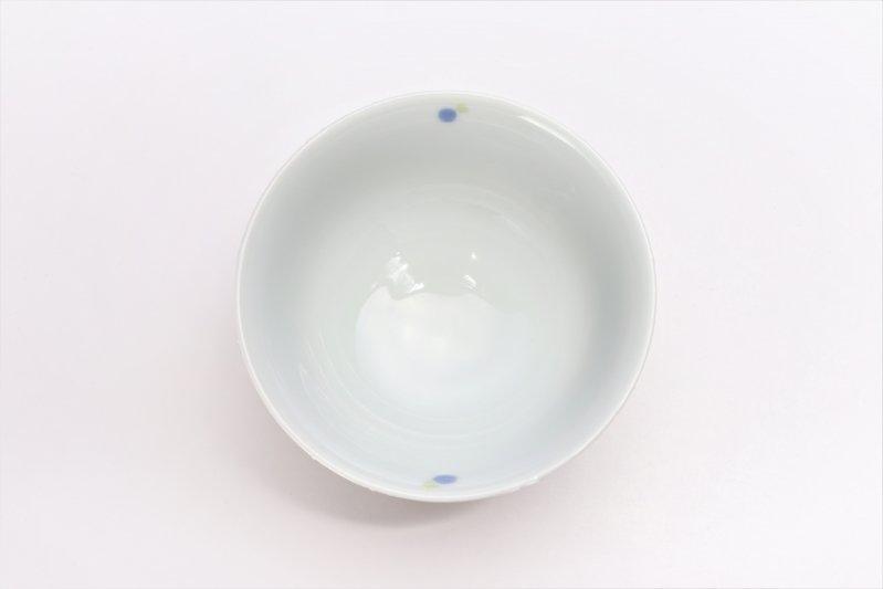 楽々シリーズ 色しずく(青・緑) 茶碗 (化粧箱入り) 画像サブ3