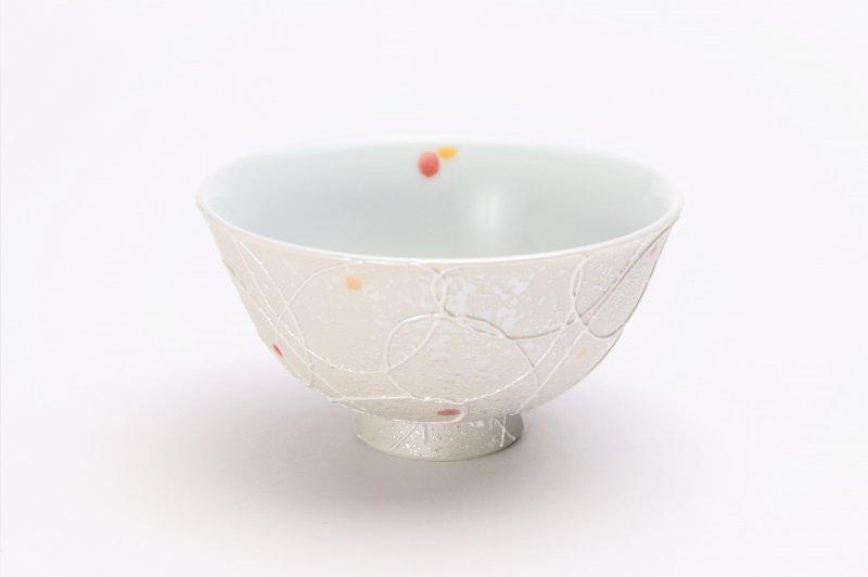 楽々シリーズ 色しずく(赤・黄) 茶碗 (化粧箱入り) 画像メイン
