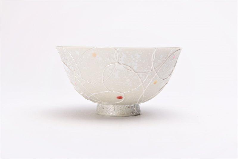 楽々シリーズ 色しずく(赤・黄) 茶碗 (化粧箱入り) 画像サブ1