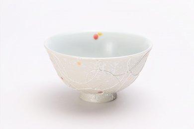 楽々シリーズ 色しずく(赤・黄) 茶碗 (化粧箱入り)