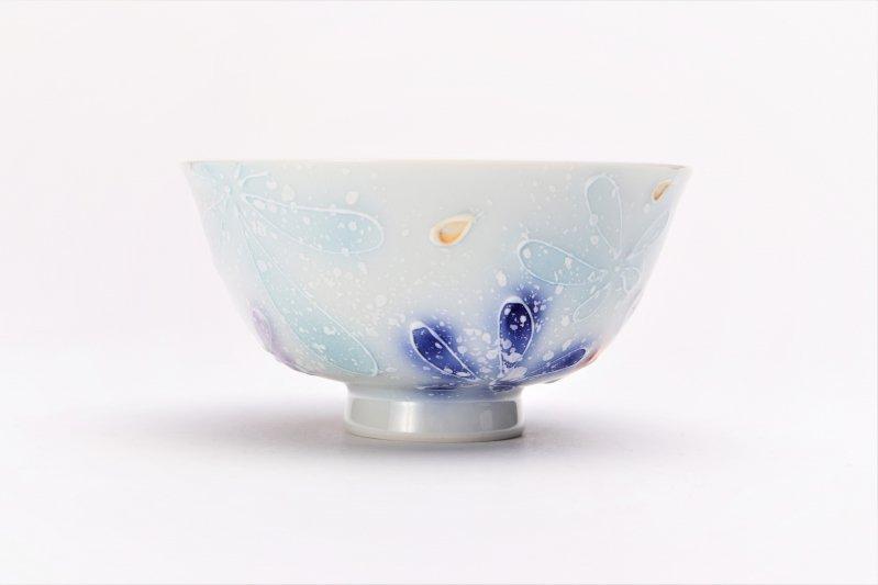 楽々シリーズ 四季花(大) 茶碗 (化粧箱入り) 画像サブ3