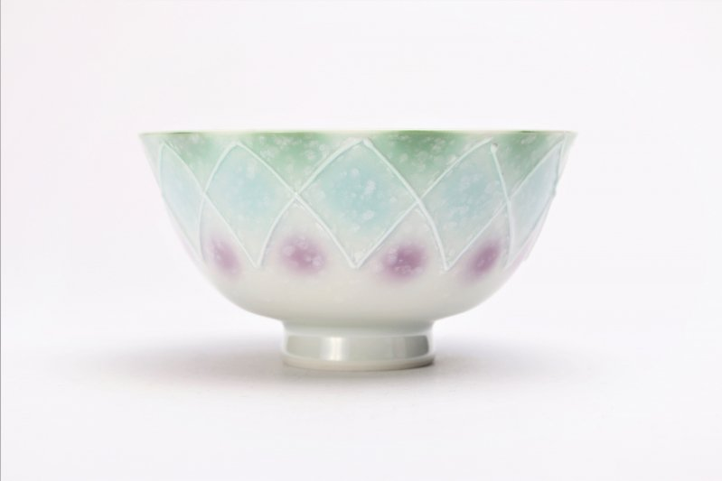 楽々シリーズ 三色ぼかし一珍(緑) 茶碗 (化粧箱入り) 画像サブ1