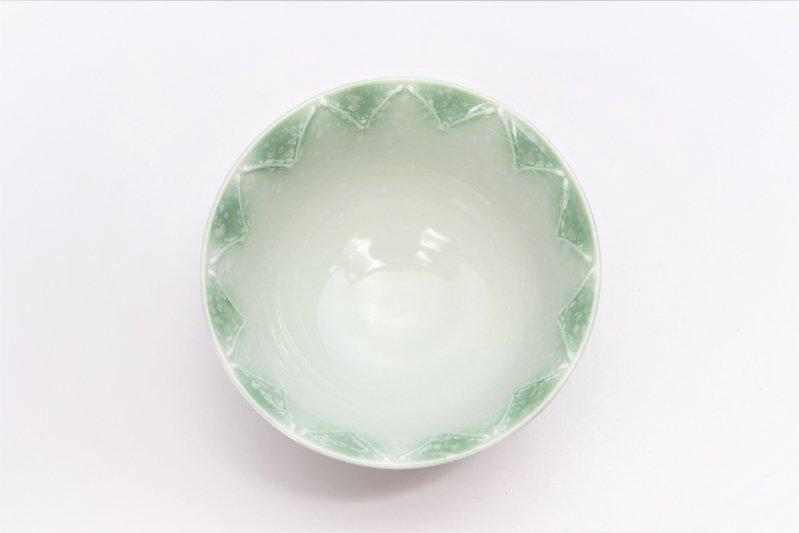 楽々シリーズ 三色ぼかし一珍(緑) 茶碗 (化粧箱入り) 画像サブ3