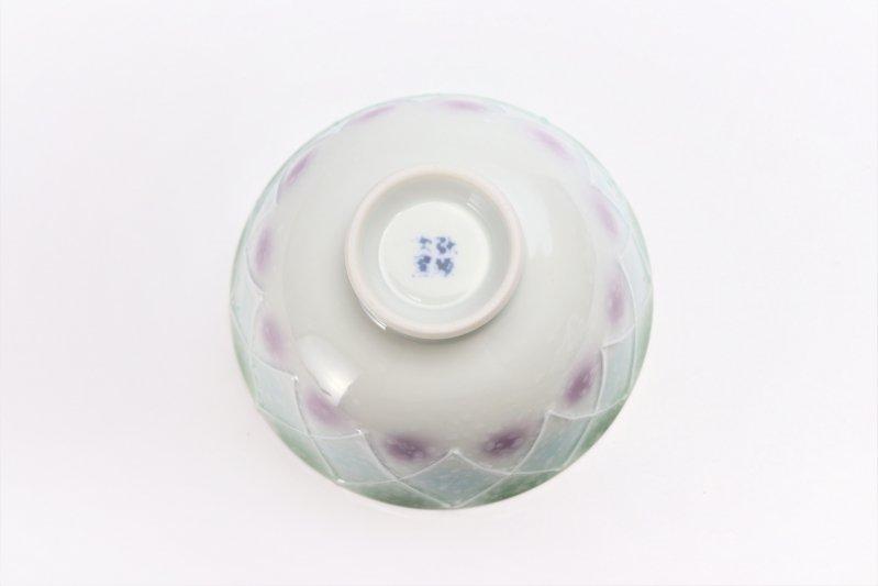 楽々シリーズ 三色ぼかし一珍(緑) 茶碗 (化粧箱入り) 画像サブ4