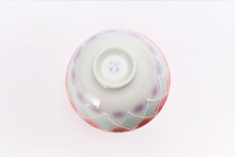 楽々シリーズ 三色ぼかし一珍(赤) 茶碗 (化粧箱入り) 画像サブ4