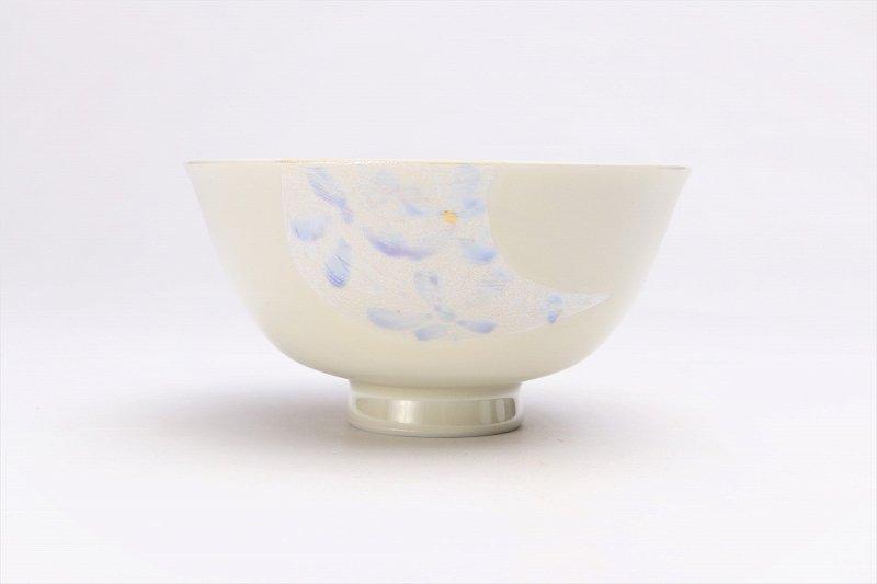 楽々シリーズ ラスター花絵(ブルー) 茶碗 (化粧箱入り) 画像サブ2