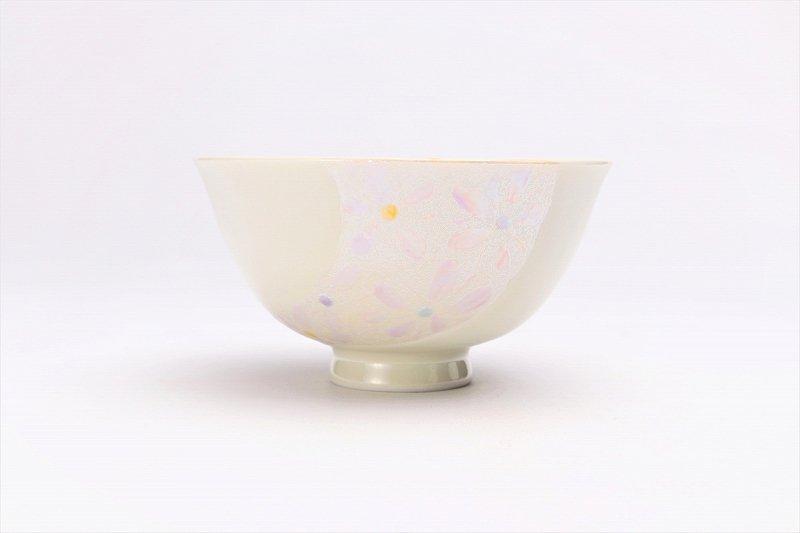 楽々シリーズ ラスター花絵(ピンク) 茶碗 (化粧箱入り) 画像サブ1