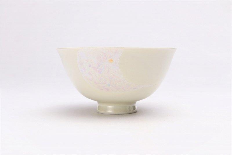 楽々シリーズ ラスター花絵(ピンク) 茶碗 (化粧箱入り) 画像サブ2