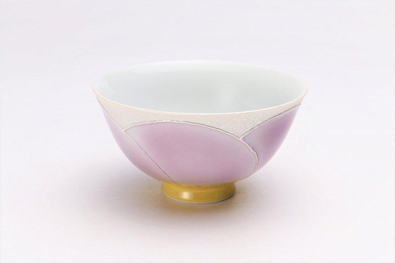 楽々シリーズ パールラスター花車(マロン) 茶碗 (化粧箱入り) 画像メイン