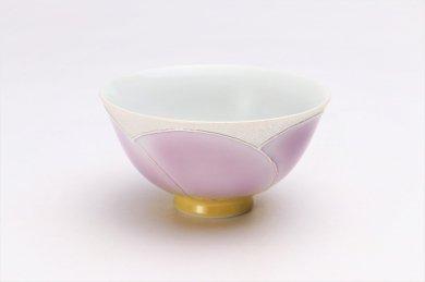 楽々シリーズ パールラスター花車(マロン) 茶碗 (化粧箱入り)