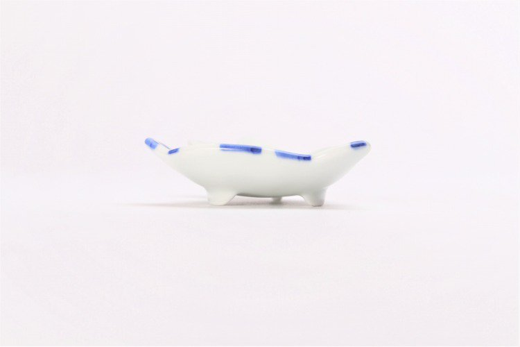 伝平窯 染市松 うさぎ豆小皿 画像サブ1