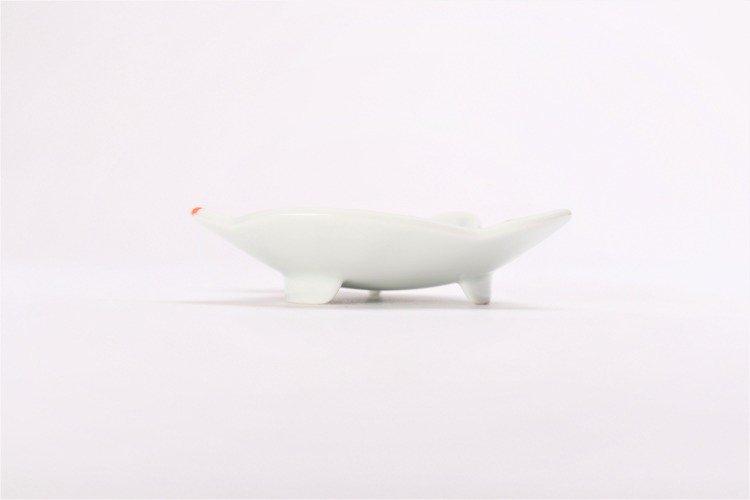 伝平窯 ひも結び瓢絵 うさぎ型銘々皿 画像サブ1