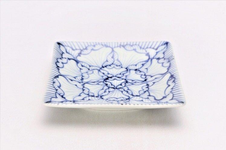そうた窯 染付花弁紋 正角皿(小) 画像メイン