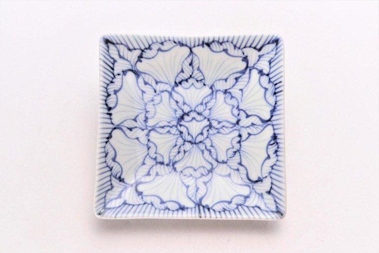そうた窯 染付花弁紋 正角皿(小) 画像サブ2