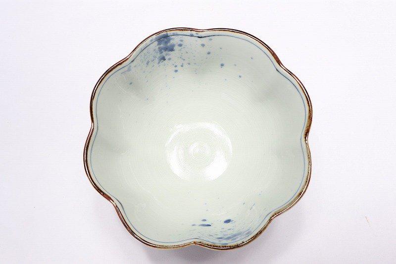 福泉窯 染付山水変型なぶり7寸鉢 画像サブ5