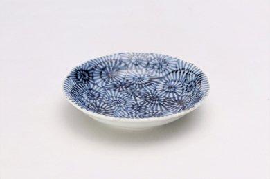 そうた窯 染付蛸唐草 3.5寸深皿