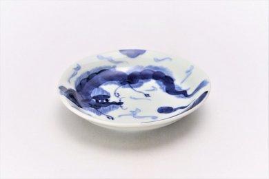 そうた窯 染付龍雲 3.5寸深皿