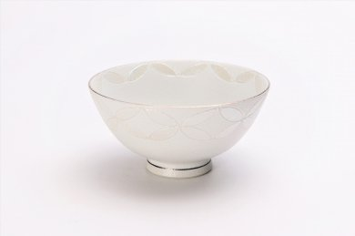 楽々シリーズ ホワイトシルバー七宝 ミニ茶碗 (化粧箱入り)