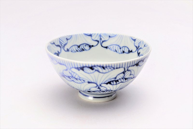楽々シリーズ 染付花弁紋 ミニ茶碗 (化粧箱入り) 画像メイン