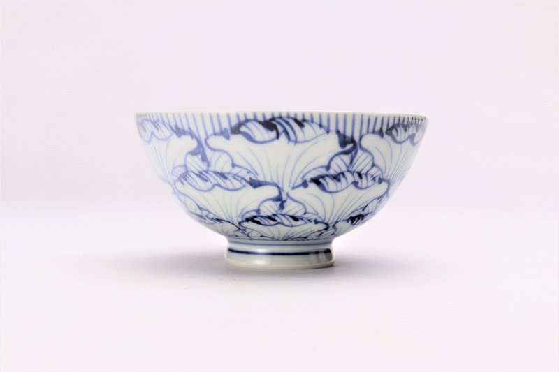 楽々シリーズ 染付花弁紋 ミニ茶碗 (化粧箱入り) 画像サブ1