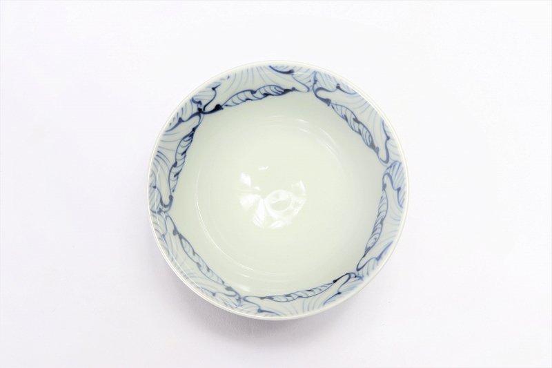 楽々シリーズ 染付花弁紋 ミニ茶碗 (化粧箱入り) 画像サブ2