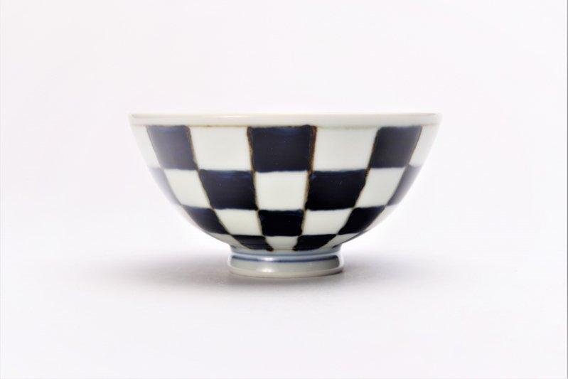 楽々シリーズ 染付市松 ミニ茶碗 (化粧箱入り) 画像サブ1