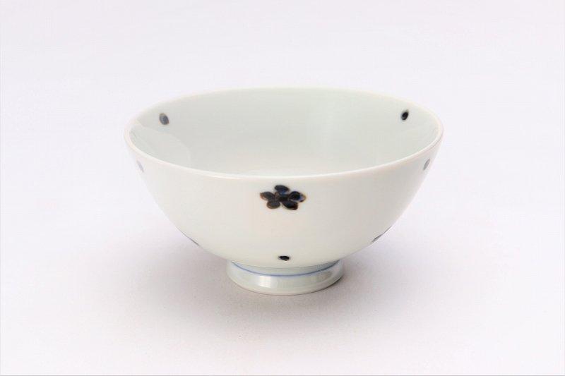 楽々シリーズ 染付小花紋 ミニ茶碗 (化粧箱入り) 画像メイン